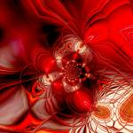 """Abstract Art Red Cocoon 2"" by shanmaree"