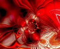 Abstract Art Red Cocoon 2