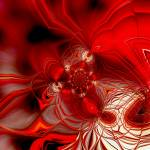 """Abstract Art Red Cocoon"" by shanmaree"