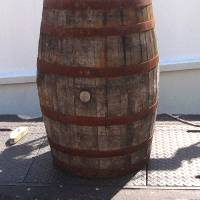 The Barrel on the Pier by Patricia Schnepf