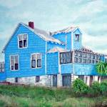"""Blue House American Beach"" by barbee"