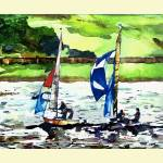 """e SAILING ON HOLLINGWORTH LAKE"" by IANHPARRY"