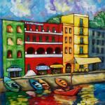 """""""MARINA IN RIMINI - ITALY"""" by saracatenacolorfulart"""