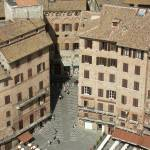 """Siena, Piazza del Campo from the Torre del Mangia"" by rpalandri"