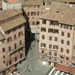 """Siena, Piazza del Campo from the Torre del Mangia"" by rpalandri"