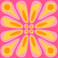 Pink Yellow Orange Retro