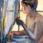 """Window Watching, Nude Female Art"" by schulmanart"