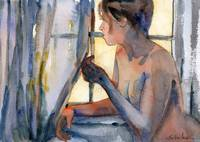 Window Watching, Nude Female Art