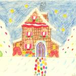 """Candy Cottage in the winter timeScan10025"" by evelyngresham"