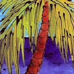 """Deep Blue Ocean Palm"" by hopegibson"