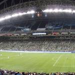 """Sounders FC Inaugural Game Panorama"" by feekner"