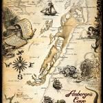 """""""Ambergris Caye, Belize - Nautical Chart"""" by savanna"""