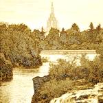 """Idaho Falls Artistic Sepia"" by lightvoyages"