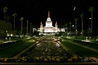 Oakland Temple After Dark