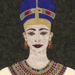 """Queen Nefertiti - fabric mosaic"" by RemnantWorks"