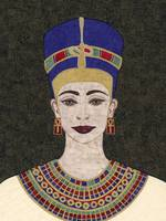 Queen Nefertiti - fabric mosaic