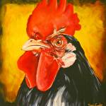 """Red Comb Rooster"" by ToniGrote"