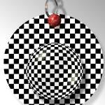 """Checkered Ball Keychain"" by ComputerArt"