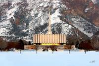 Provo Temple in Winter