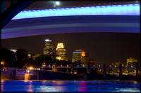 St Anthony Falls Bridge w/the Minneapolis Skyline