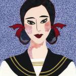"""Japanese Girl Series - Sailor Chieko"" by RemnantWorks"