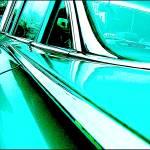 """Chevrolet Impala Graphic Blue"" by oopsfotos"