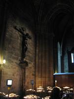 Crucifix within Notre Dame church