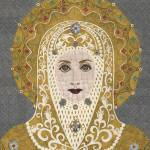 """""Mary"" fabric mosaic - Virgin Mary"" by RemnantWorks"