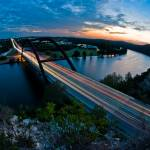 """Austin 360 Bridge at Sunset"" by treyerice"