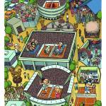 """Map of Roland Garros"" by mariozuccaillustration"