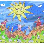 """""Progressed Sun""-Children Colorful Fantasy Stories"" by Arran"