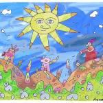 """""Progressed Sun""-Children Colorful Fantasy Stories"" by Arran"