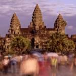 """Rush Hour at Angkor Wat"" by lesleywilliamson"