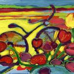 """""""Bicycle Ride Through the Tulip Field #2"""" by JENLO"""