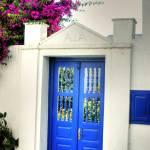 """Mykonos Blue Door"" by SamSherman"