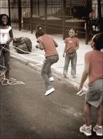 Double Dutch Jumprope Sepia Color Tint