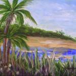 """Palm Trees in Florida Cove"" by BarbaraHarper"