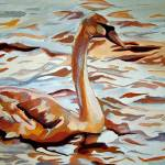 """""""Swan and Water"""" by LOUISEDIONNE"""