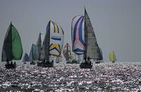 Yachts with unfold spinnaker 1