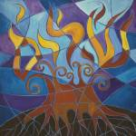 """Burning Bush Mosaic II"" by laurabolter"