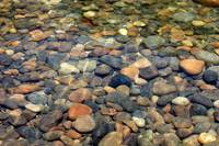 Colorful Rocks in Peaceful Pond - Large Image