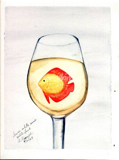 Wine art collection stunning artwork for sale on fine art for White wine with fish