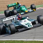 """Williams FW08 and Tyrrell 012"" by querth"