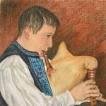 """Gajdy Bagpiper, Croatia"" by melissaenderle"