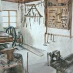 """Blacksmith Shop, Sirogojno"" by melissaenderle"