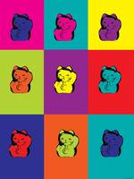 Maneki Neko Kitty Pop Art