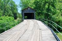 entrance to old covered bridge