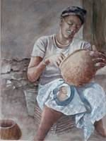 Dogon Pottery Maker Mama