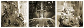 French Fountain Story (Sepia)