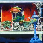 """blue lamp red balcony"" by tica"